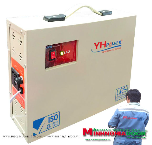 Điện tử, điện lạnh: Bình lưu điện yh power - giá bình lưu điện cửa cuốn yh po Binhluudienyhpowerminhnghiadoor